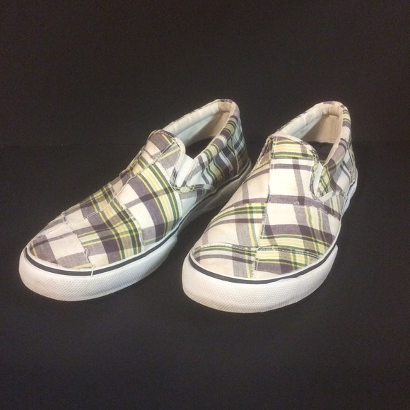 Sperry Other - SPERRY Topsiders Plaid Slip On Boat Shoes 10M